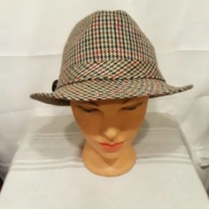 Wool & Acrylic Bowler Hat with adorable leather lo